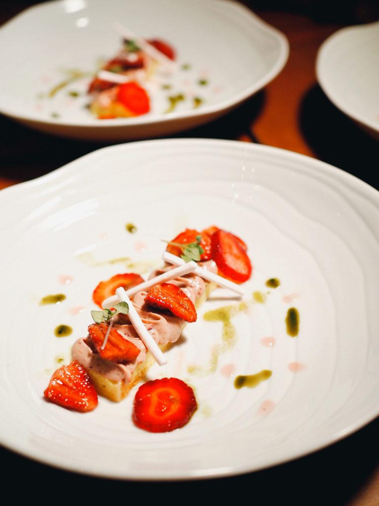 Dessert course Strawberry Fields
