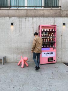 Zapangi Seoul Storefront with vending machine door